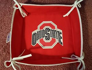 OHIO STATE BUCKEYES FOOTBALL TAILGATE PARTY CLOTH SERVING TRAY