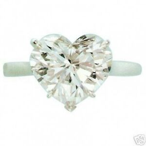 10.03 ct I SI3 natural heart shape diamond solitaire ring 14k white gold