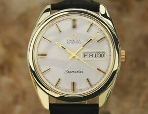 Omega 1970s Seamaster Gold Capped Swiss 36.5mm Calibre 752 Auto Mens Watch AL44