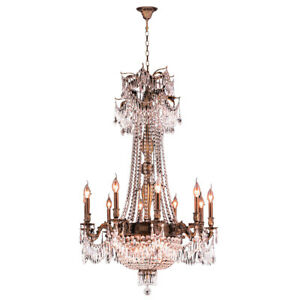 USA Winchester 15 Light Antique Bronze with Clear Crystal Chandelier 30x47 Large