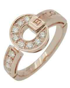 Bvlgari Bvgari 18K Rose Gold Diamond Statement Ring Size 6.75. BG0994 346215