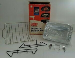 Vintage Weber Grill Barbecue Accessories Starter Kit - Open but UNUSED - #8801