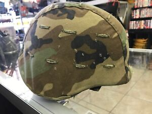 US American Army Ballistic Vietnam Era Military M-1 PASGT Helmet wCover