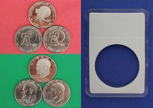1976 P D S Type 1 Eisenhower Ike Dollars Flat Rate Shipping With DIY Slabs