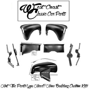 .1947-1953 Chevy Stepside Hood W Molding Hinges Front Fenders Bedsides LH RH