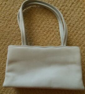 Designer Escada Baby Blue Suede Leather Evening Bag Purse Gold Clasp Italian VTG