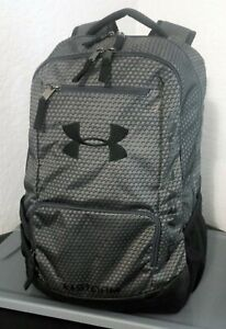 Under Armour Team Hustle Storm Backpack Steel GreyBlack Best Looking