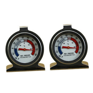 Stainless Steel Refrigerator / Freezer Dial Type Stainless Thermometer