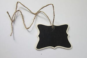 40 Mini Chalkboard Hanging Tag Wedding, Gifts, Party Favors and Storage