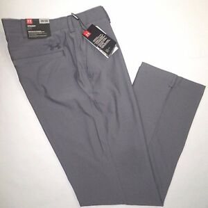 NWT UNDER ARMOUR Mens Loose Straight Fit Vented Golf Pants Steel GRAY 38 x 32