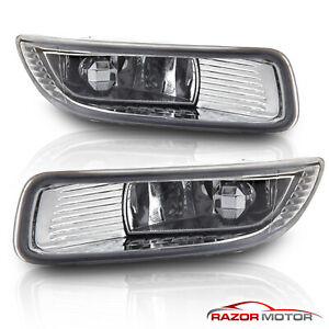 For 2003 2004 Toyota Corolla Euro Clear Bumper Fog Lights w/ Switch+Harness Kit