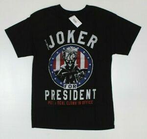DC Comics Batman The Joker For President Clown In Office Black T-Shirt New! (4F5
