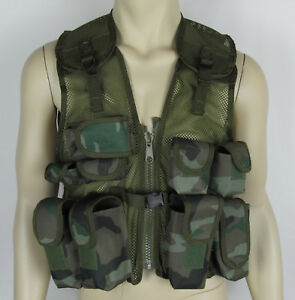 Highlander xtp 600 fabric vest hunting tactical ammo pockets camo Youth size