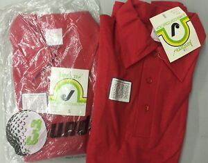 VTG 80s Jantzen 3 UNDER Golf Polo Shirt Single Stitch Mens S NOS RED unisex $9.99