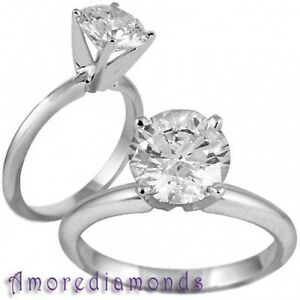 2.39 ct D IF round triple excellent ideal cut diamond classic solitaire ring