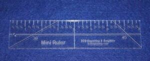 8quot; Mini Ruler. Acrylic 1 4quot; thick. Quilting Sewing $23.99