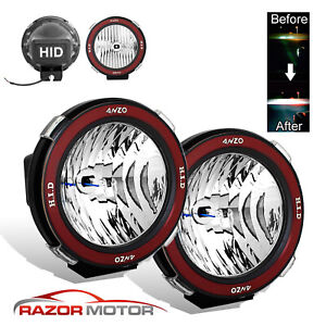 Pair Universal 7 inches Built in 6000K HID 4x4 Off Road Fog Lights for SUV Truck $56.87