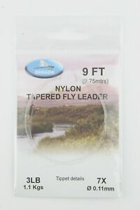 X1 Pack Dragon Nylon Tapered Leaders 34568lb 9ft Trout Fly Fishing
