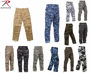 Rothco Military Camouflage BDU Cargo Army Fatigue Combat Camo Pants XS 2XL