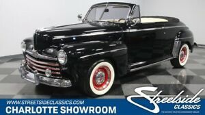 1946 Other Convertible Coupe classic vintage post war chrome black red white drop top FOMOCO Edelbrock