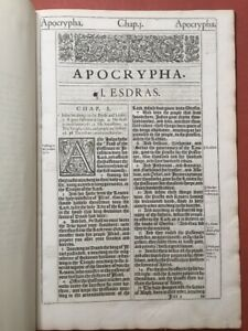 Na  APOCRYPHA original printing from 1611 King James Bible finely bound 1st ed