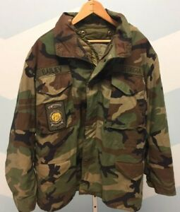 MILITARY ISSUED ACU Woodland COLD WEATHER COAT & Pants MedMedium-Regular USED