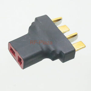 2pcs battery conversion adapter Parallel T female to 2x T plug RC 1F2M splitter