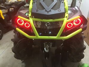 Can Am Outlander Gen 2 Halos rings lights set 4 - RED also XMR s Canam