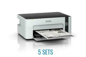 5 SETS *(FEDEX)* NEW EPSON M1120 EcoTank Monochrome Wi-Fi Ink Tank ITS Printer