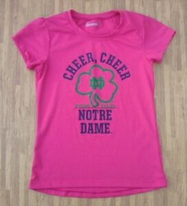 Cheer Cheer For Old Notre Dame Under Armour Pink Shirt ~ Girl's Size 6 ~ UA NCAA