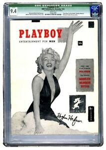 CGC 9.4 Hugh Hefner Autographed 1953 Original #1 PLAYBOY (White Pages) 11 (COA)