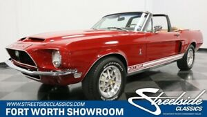 1968 Mustang Shelby GT500 Classic Shelby Convertible 428 V8 4 Speed Manual Candy Apple Red Marti Report Re