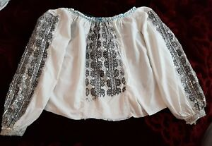 Stunning Sequins Vintage Romanian traditional blouse GBP 120.00