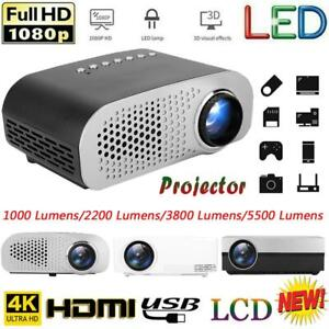 Multimedia 4K HD 1080P HDMI Android 3D LCD LED Projector Home Cinema 5500 Lumens