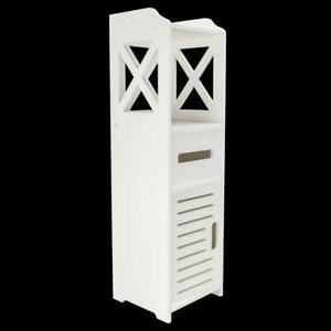 Modern Bathroom Over The Toilet Space Saver Cabinet Organizer Storage White NEW