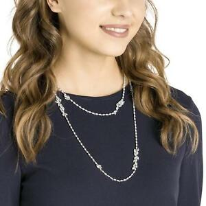 LOUISON STRANDAGE NECKLACE WHITE RHODIUM PLATING 2018 SWAROVSKI JEWELRY 5418111