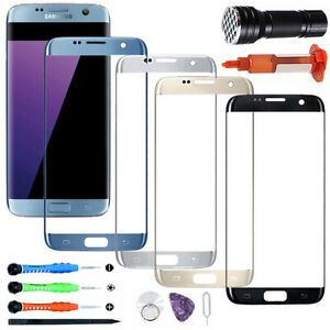 For Samsung S7 Edge OEM Front Touch Glass Screen Replacement Repair Tools Kits