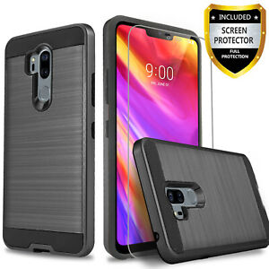 For LG G7 ThinQ Case Shockproof Cover+Tempered Glass Protector
