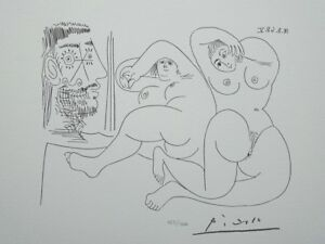 Picasso Pablo - Two Chunky Women Nude - Lithography Signed #1200ex