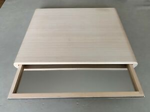 LEGNOART WHITE OFF WOOD Cheese Board Set Drawer Serving Tray Kitchen 19.5