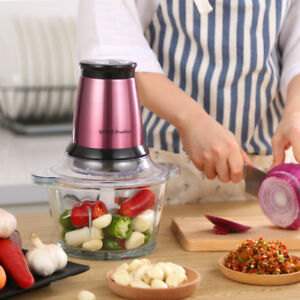 Mini Electric 200W 2L Meat Grinder Home Mincing Vegetables Food Mixer Machine
