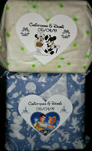 @15 PERSONALIZED HEART SHAPED DISNEY WEDDING/ANNIVERSARY/FAVOR BOX LABELS@