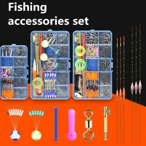 Fishing Tackle Full Tools Accessories Set Boxed Barbed Hook Fixed Lead Box