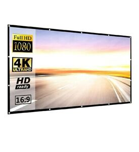 Projection Screens 120 Inch 169 HD Projector Screen P-JING Portable Widescreen