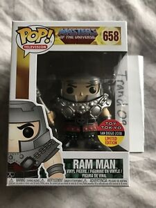 FUNKO POP 2018 SDCC RAM MAN Masters of the Universe #658 Toy Tokyo Exclusive wP