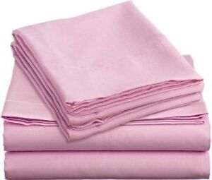 COLORMATE 3PC 325TC COTTON BLEND SHEET SET PINK TWIN
