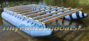 6'x11' BOLT-TOGETHER MINI PONTOON BOAT FLOAT & FRAME KIT PLASTIC FLOATS AL FRAME