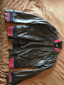 Dolce & Gabbana Leather Jacket Lamb Skin Men LARGE Authentic Real- EXCELLENT!
