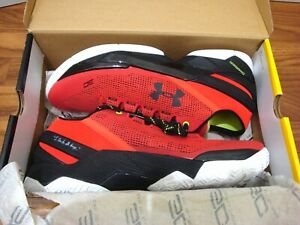 Under Armour Curry 2 Low Men's Rocket Red Black Basketball Shoes 1264001-984