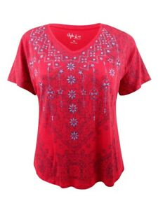 Style & Co. Women's Plus Size Graphic Top